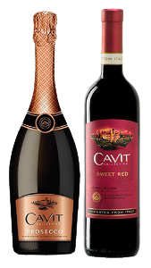 Cavit Prosecco + Cavit Sweet Red
