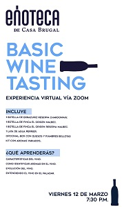 Basic Wine Tasting (No Incluye Alimentos)